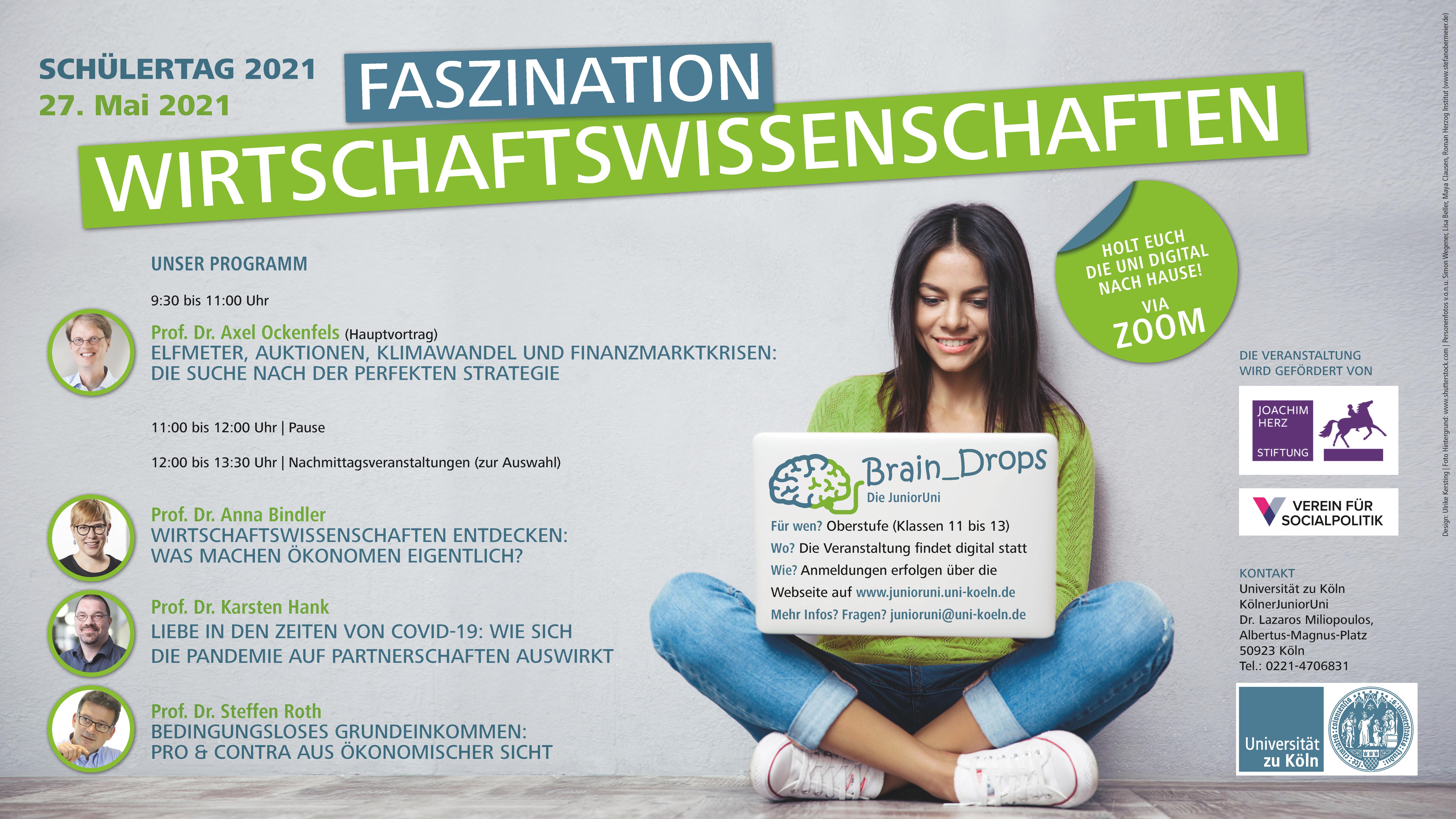 Poster für den digitalen Schüler:innentag am 27. Mai 2021